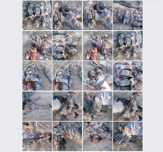 لقطة لمحتوى الصفحة تظهر قسماً من صور الجثث